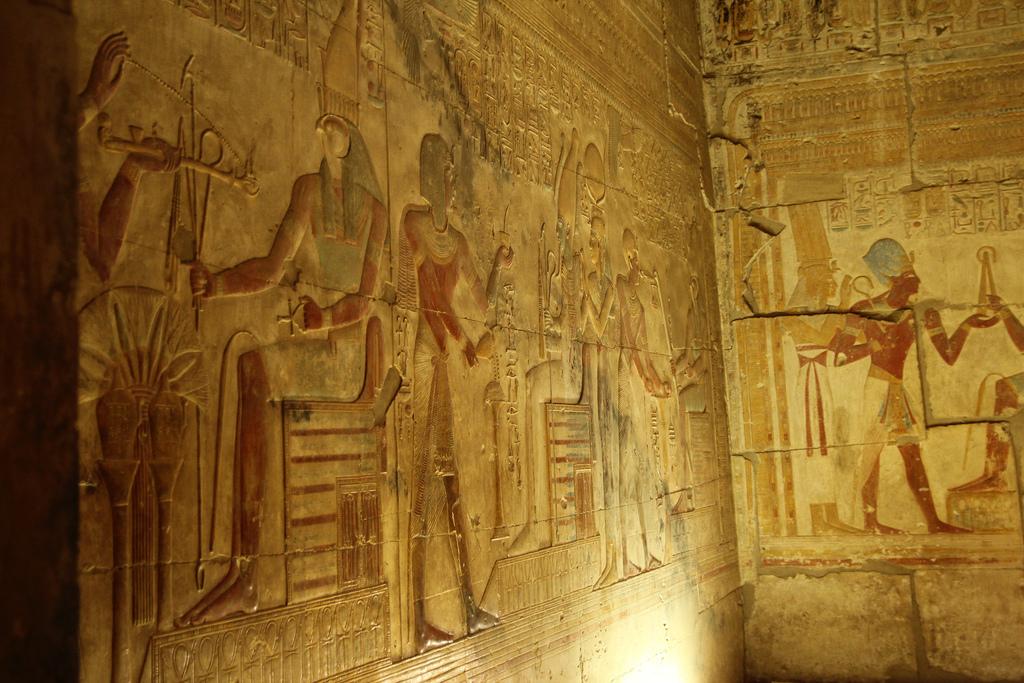 Абидосский храм, фрески