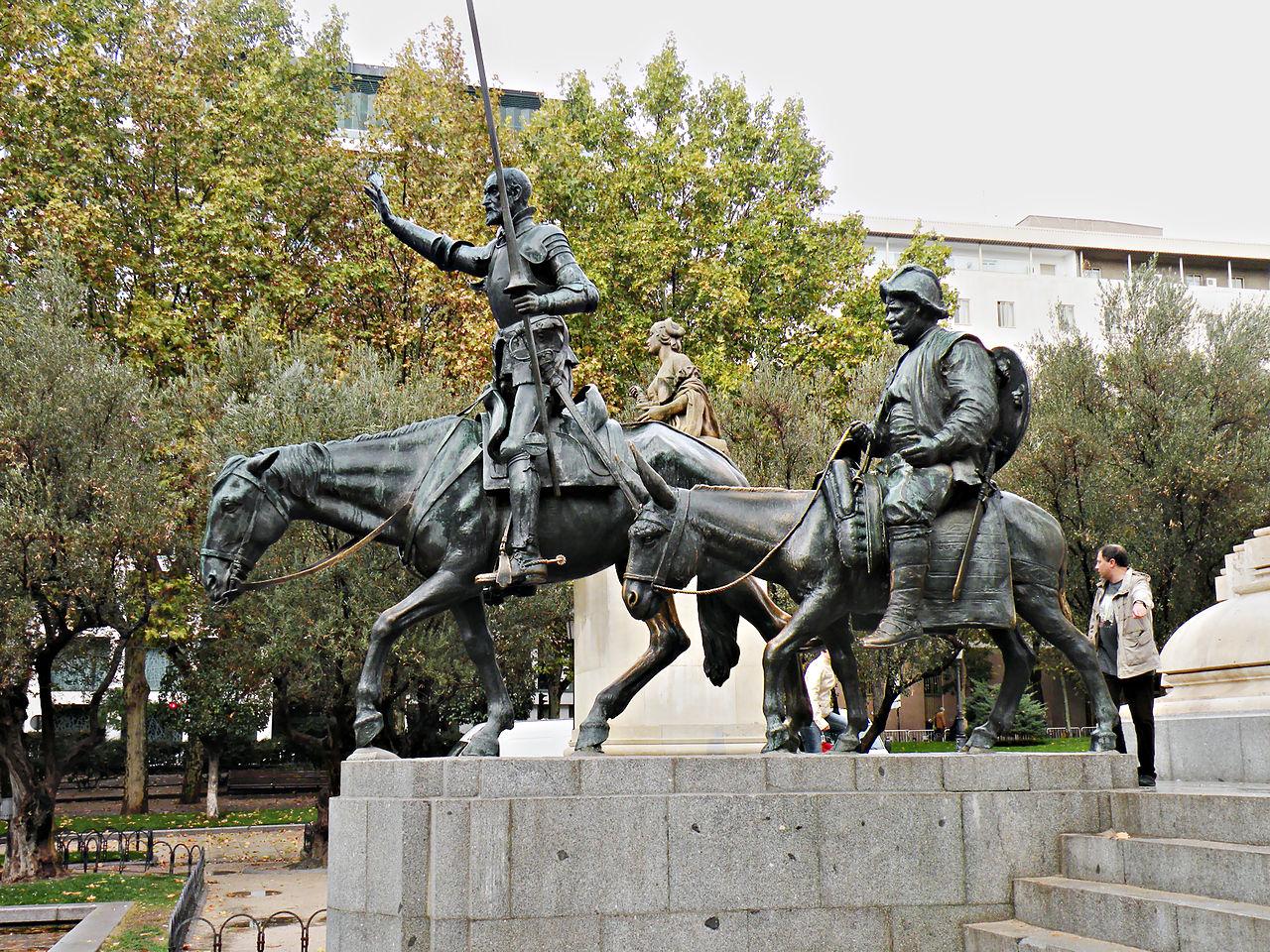 Дон Кихот и Санчо Панса, памятник в Мадриде