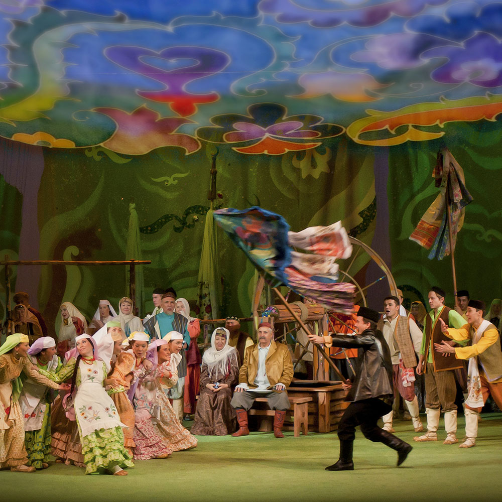 Татарский академический театр имени Галиасгара Камала, во время спектакля
