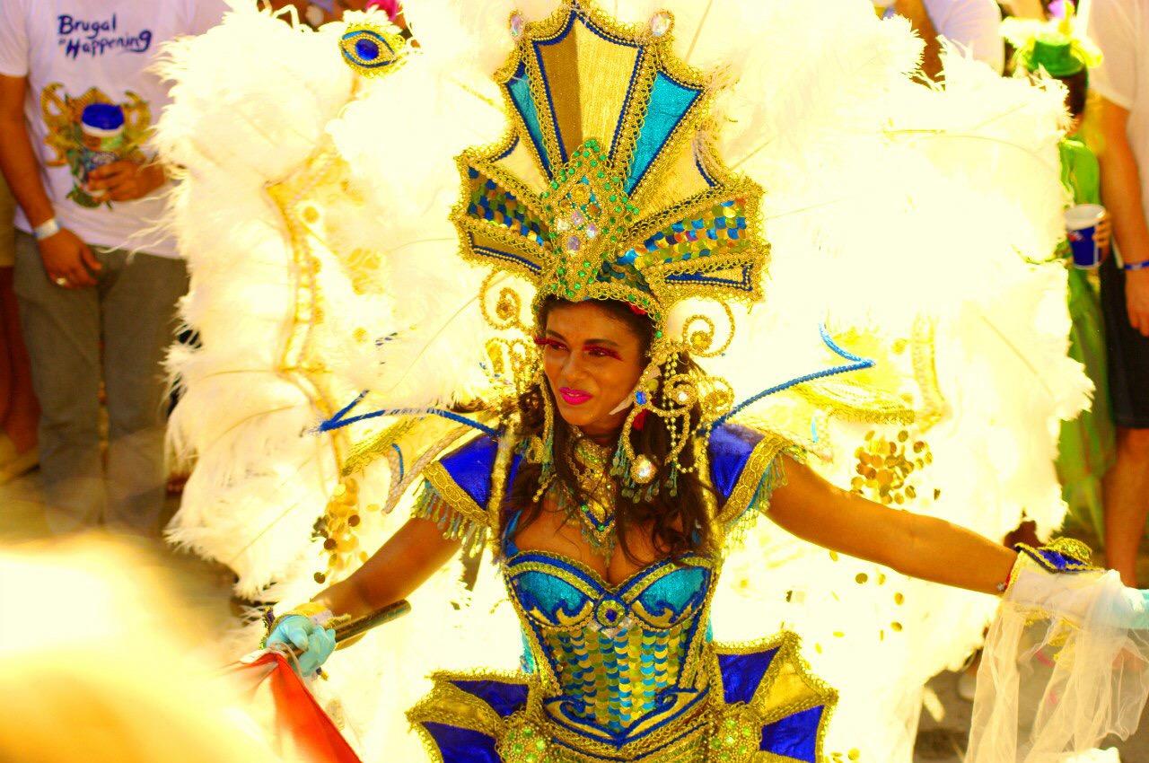 Участники карнавала в Доминикане