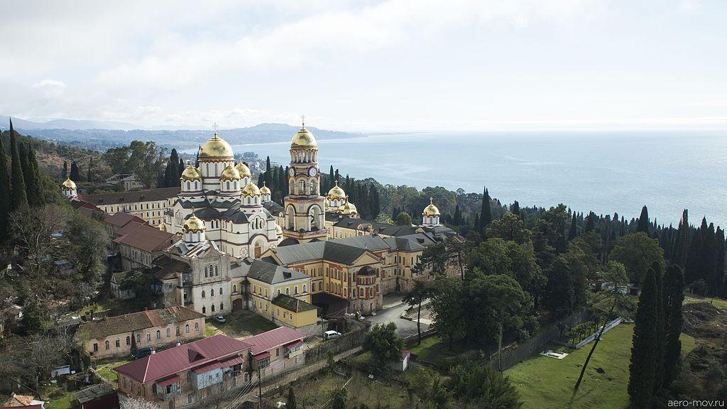 Новоафонский монастырь, вид с воздуха