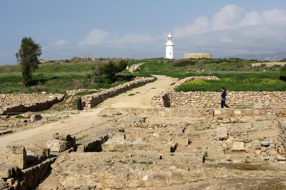 Маяк археологического парка в Пафосе