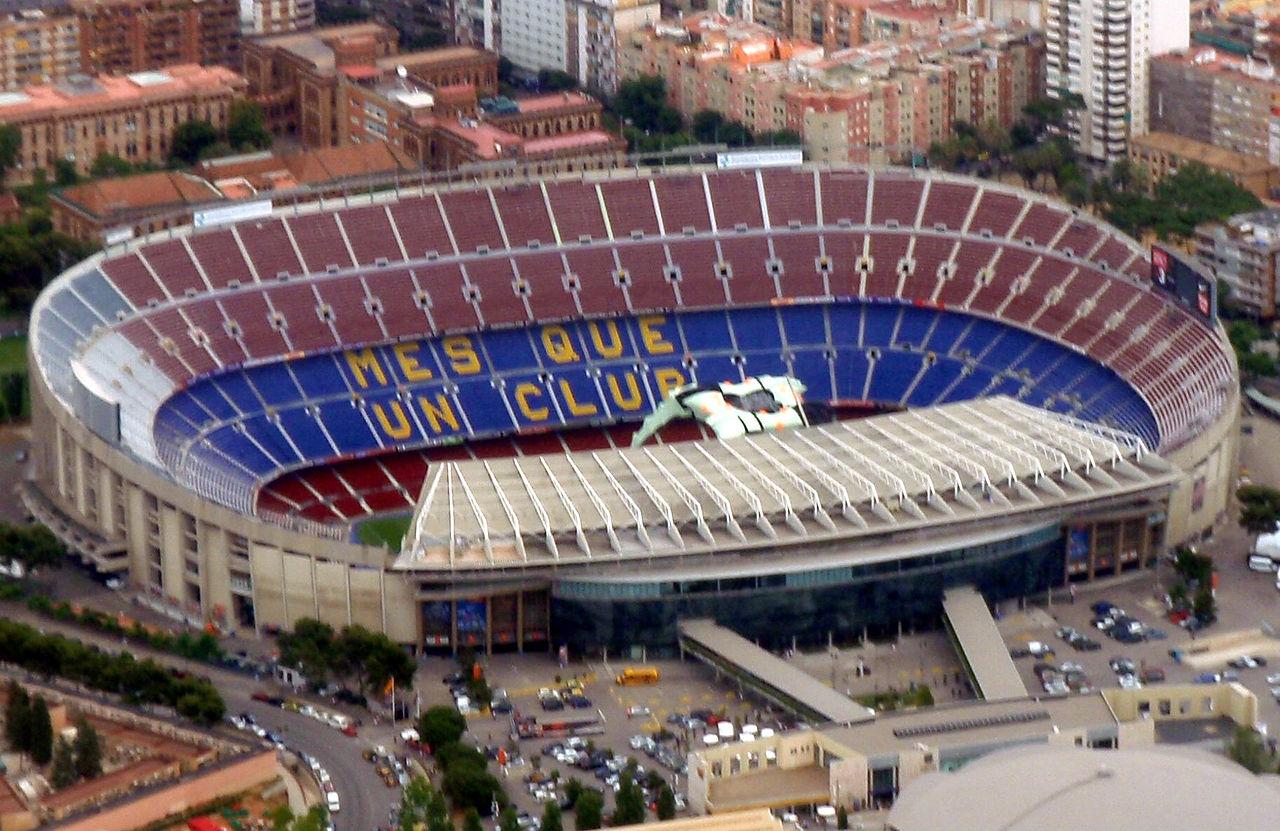 Стадион Барселоны, вид с воздуха