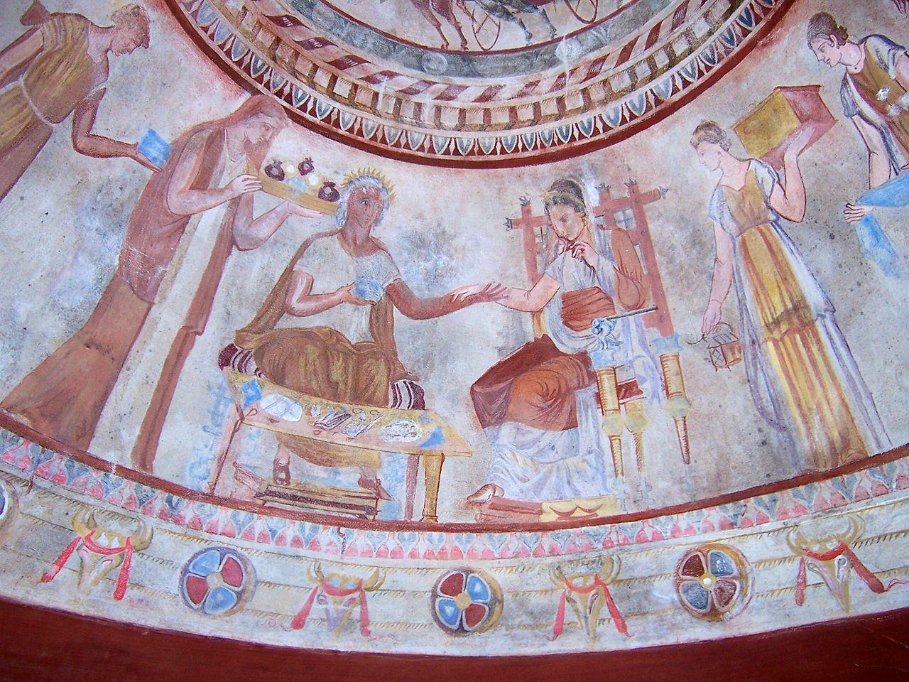 Фракийская гробница в Казанлыке, роспись