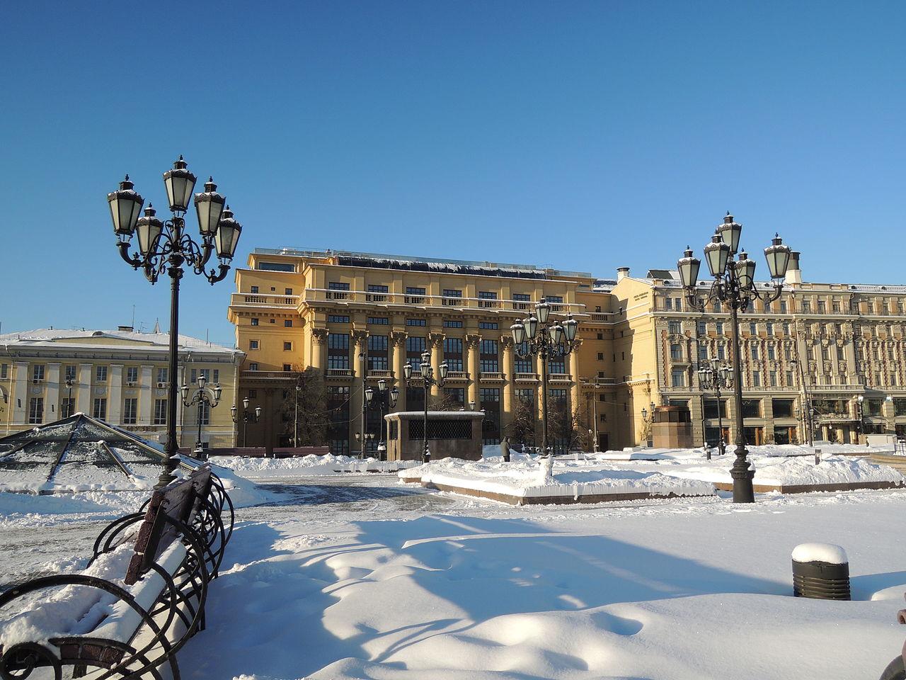 Москва, зима, Манежная площадь