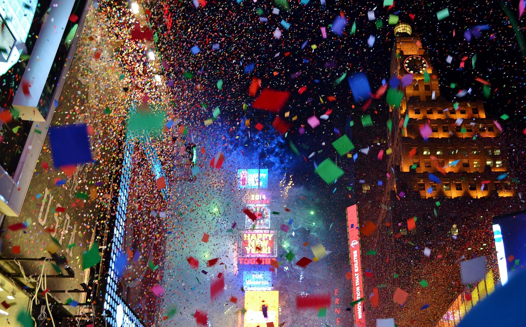 Новогодний серпантин Нью-Йорка