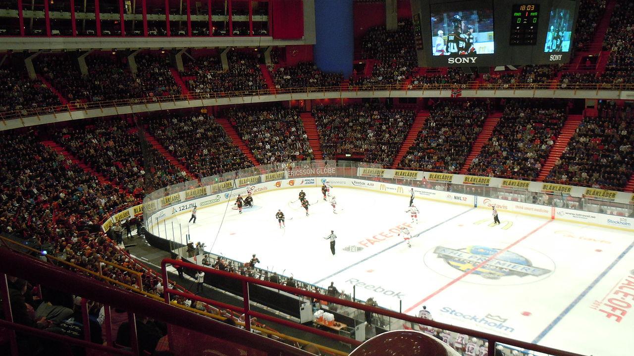 Глобен-Арена, хоккейный матч