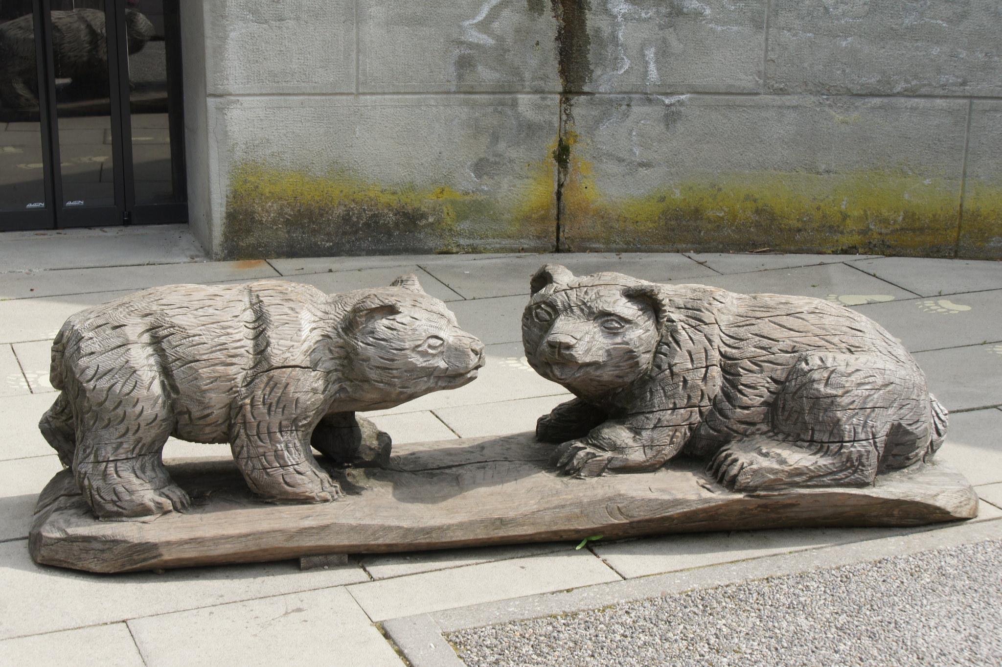 Деревянная скульптура в Медвежьем парке, Берн