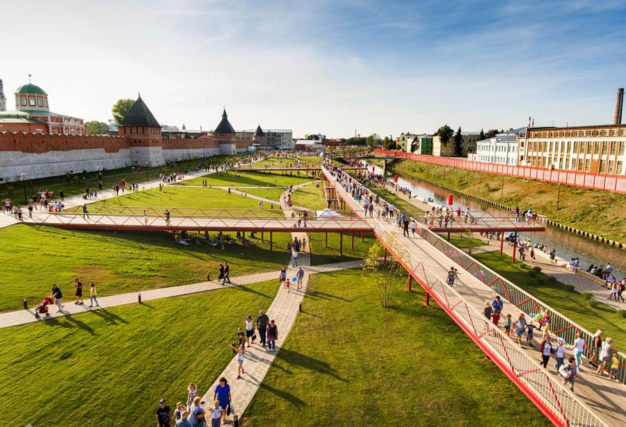 Казанская набережная, Тульский Кремль и Оружейный завод
