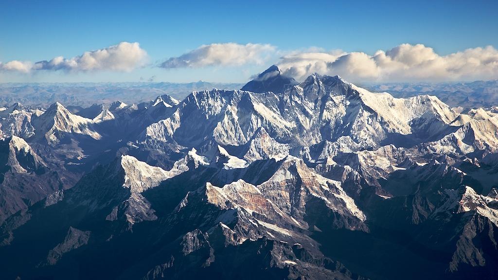 Эверест с высоты полета