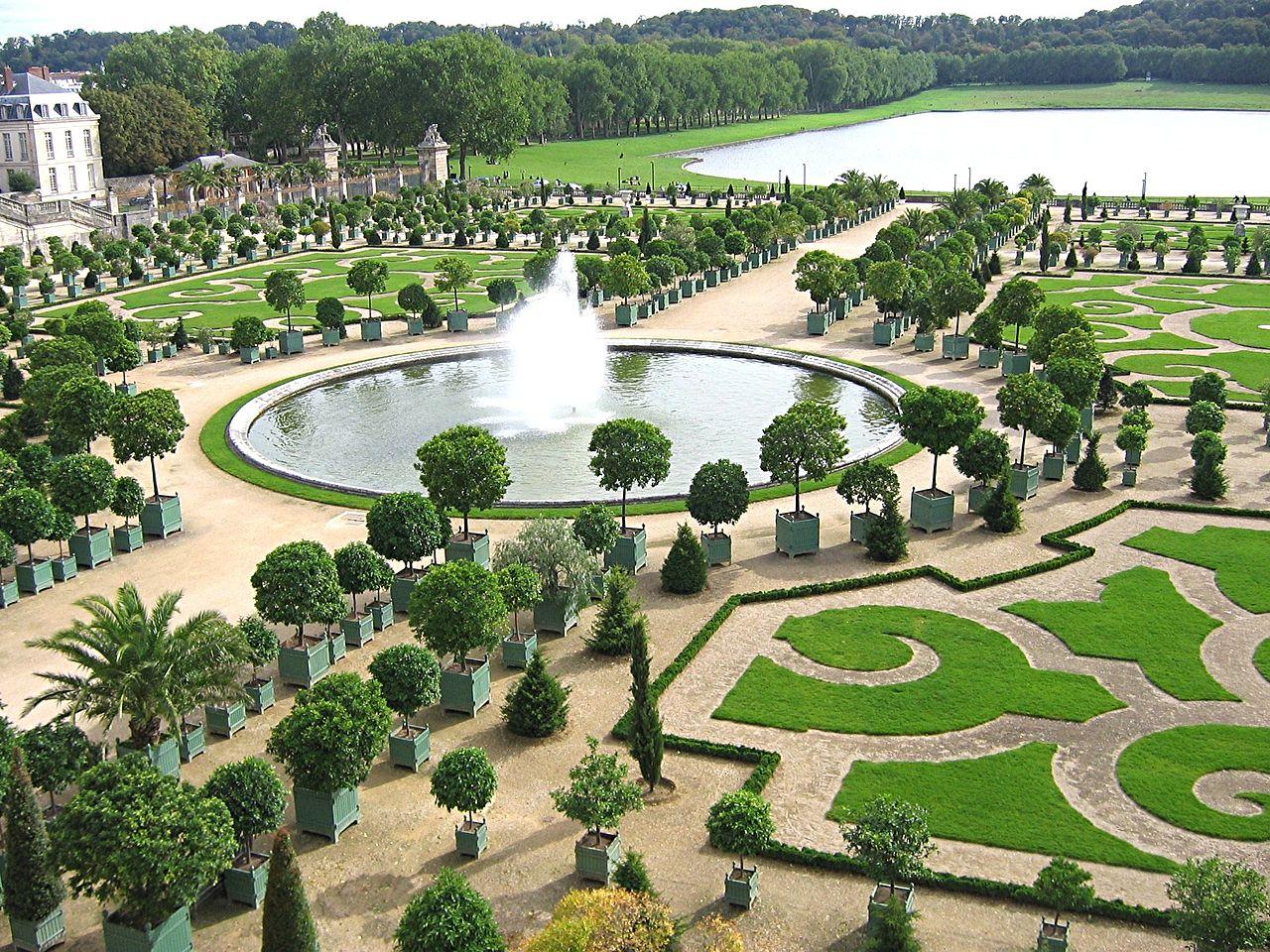 Версальский дворец, партер перед оранжереей