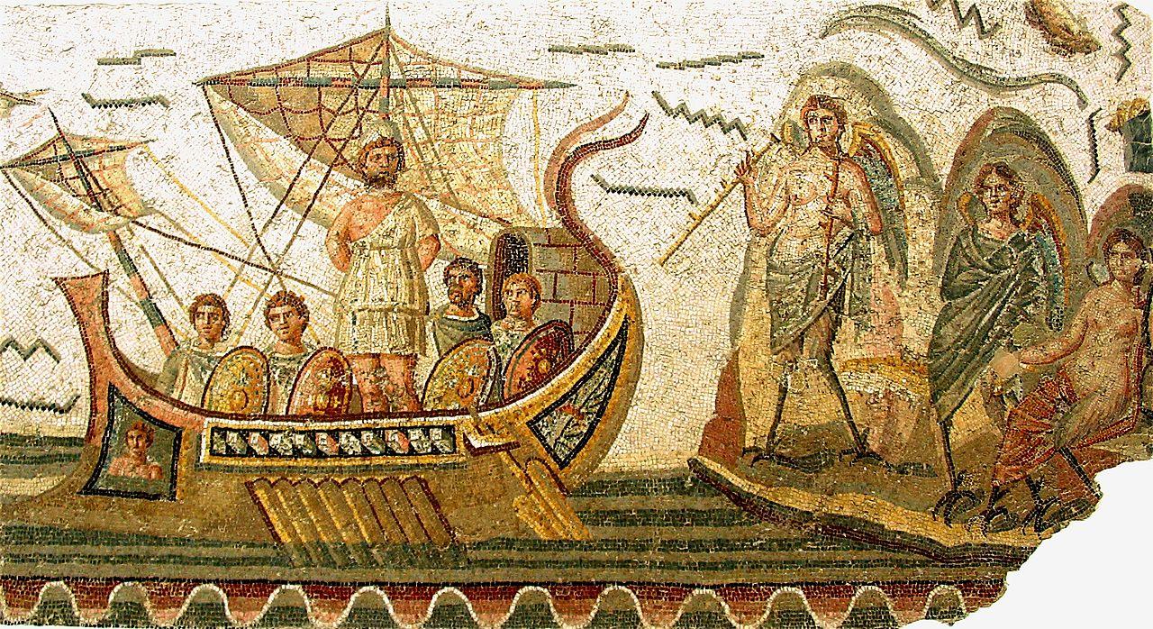 Музей Бардо, мозаика Одиссей и Сирены