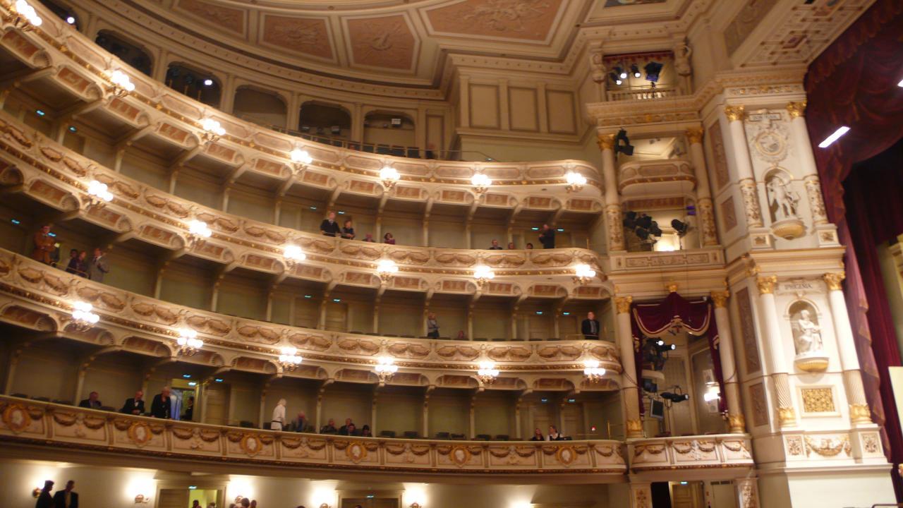 Дрезденская государственная опера, зал