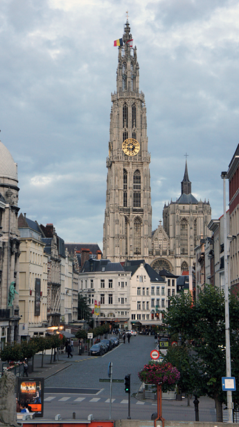 Вид на Антверпен
