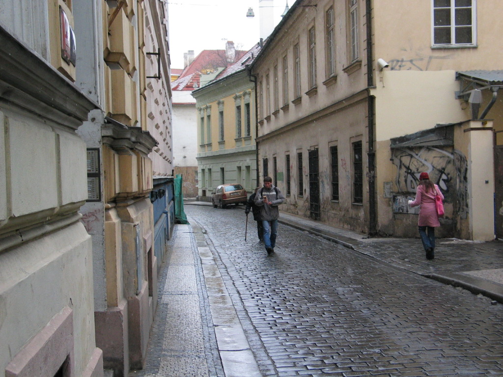 Улица в районе Нове Место, Прага