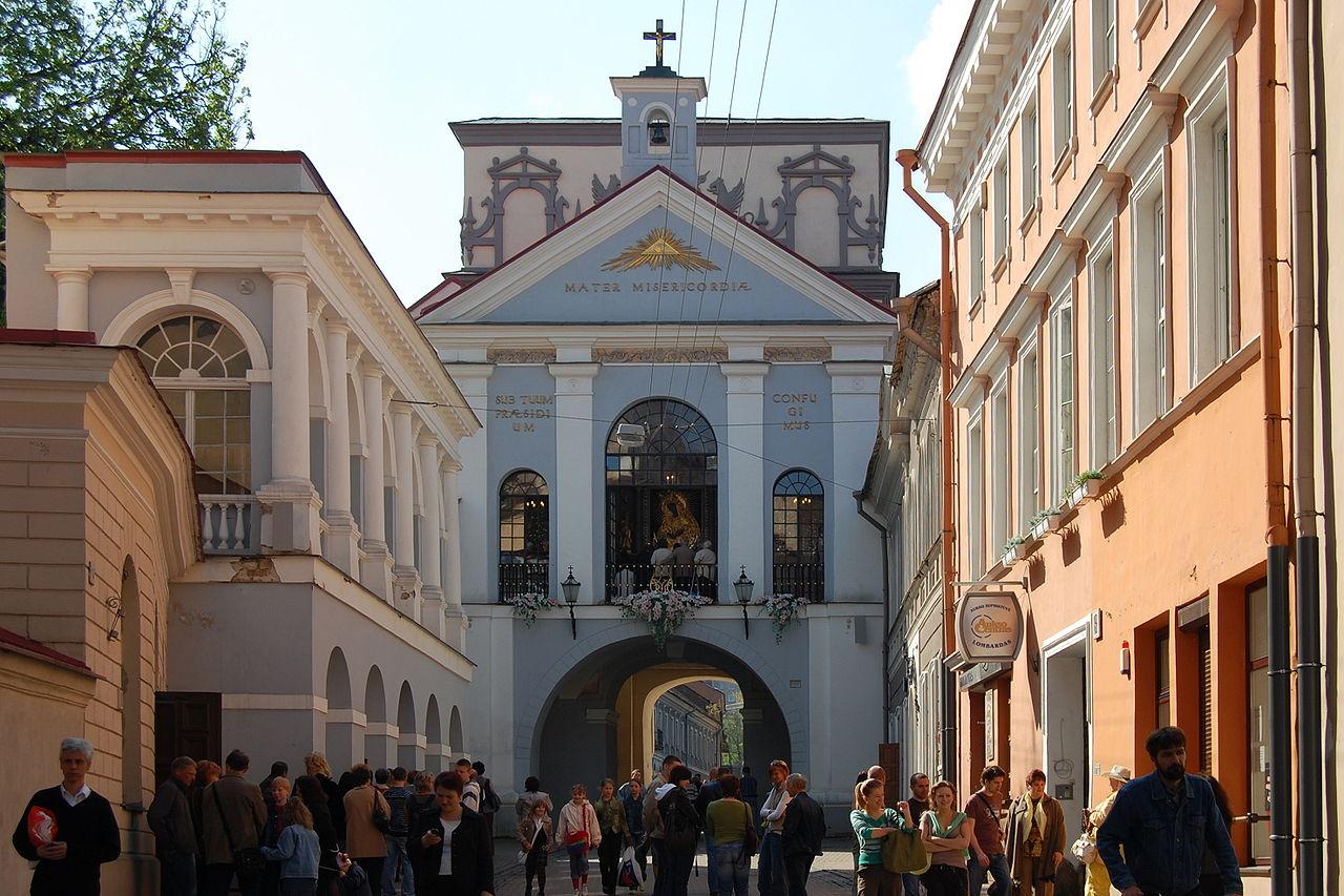 Городские ворота Аушрос, часовня