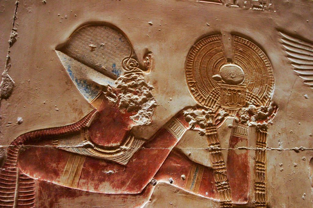 Абидосский храм, деталь барельефа