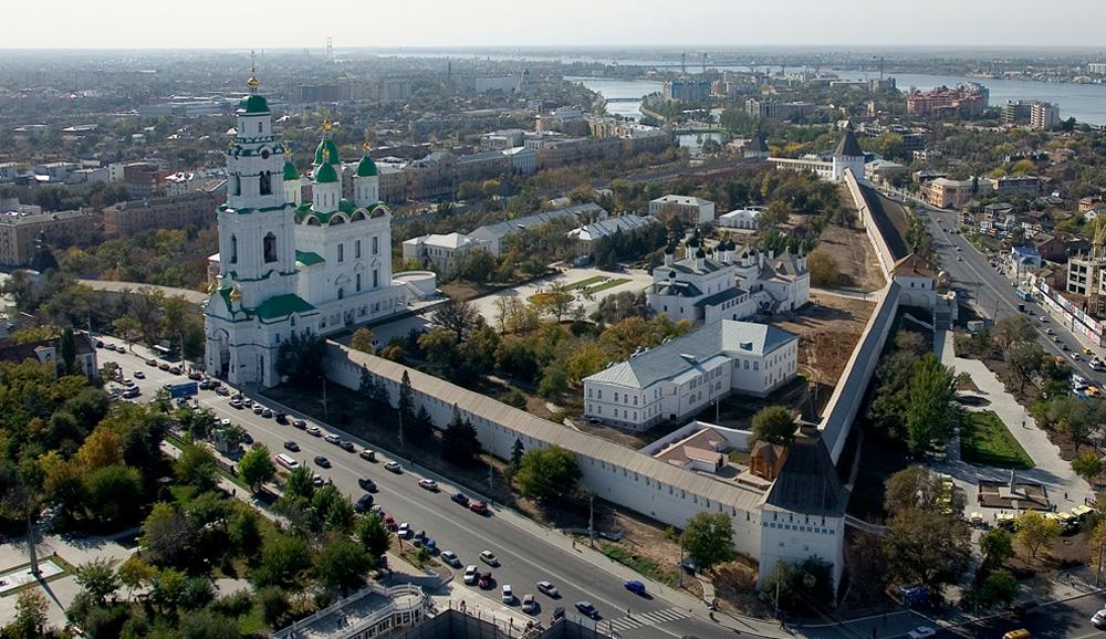 Астраханский кремль, вид с воздуха