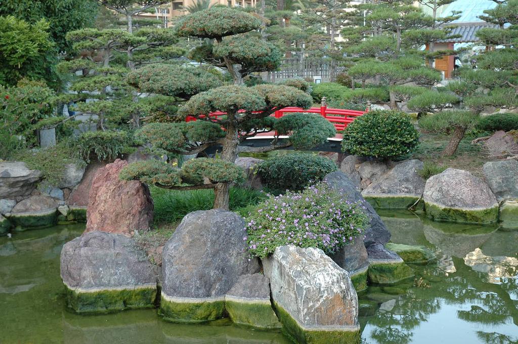 Вид на Японский сад в Монте-Карло