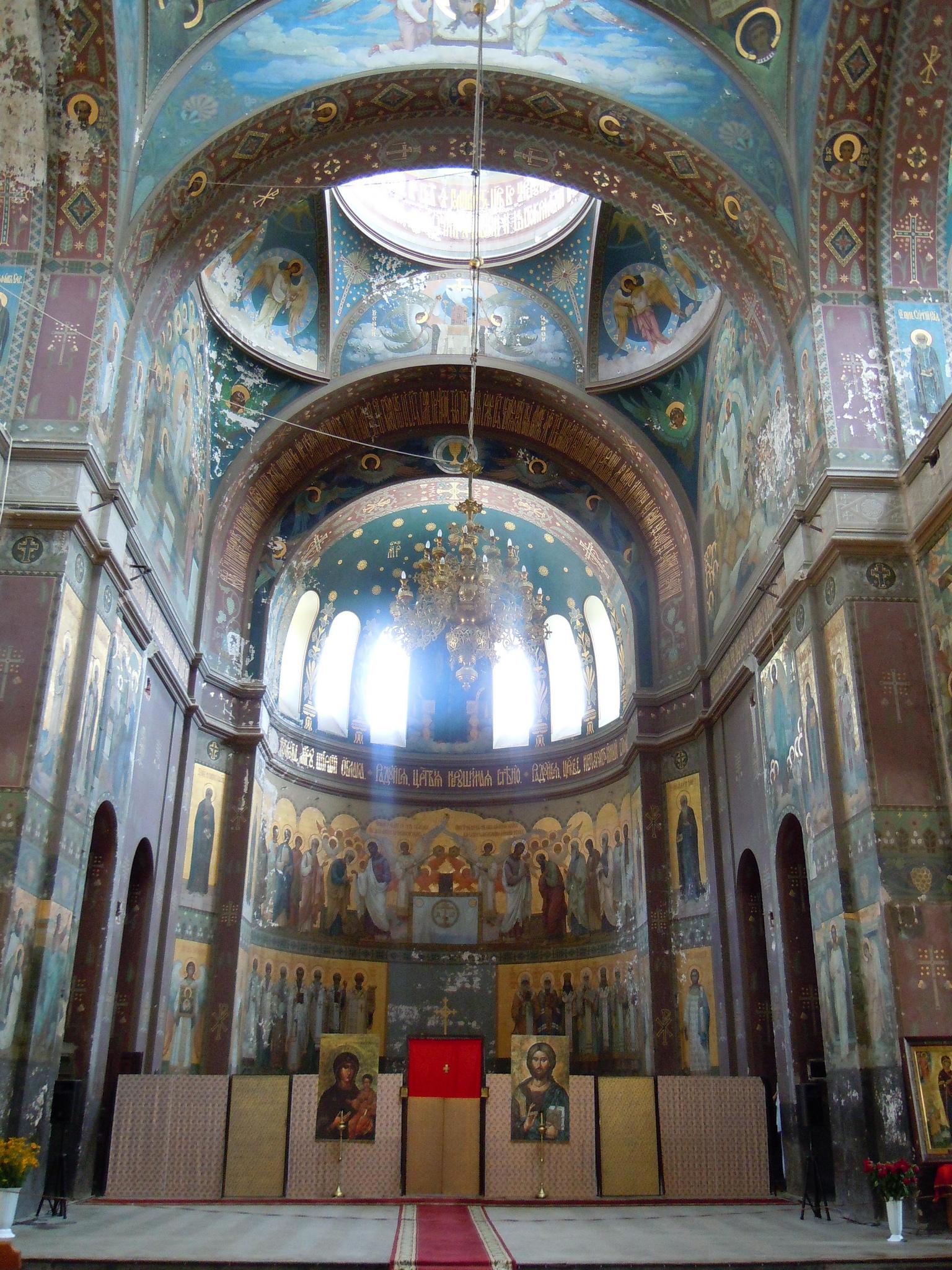 Внутри Новоафонского монастыря, Новый Афон