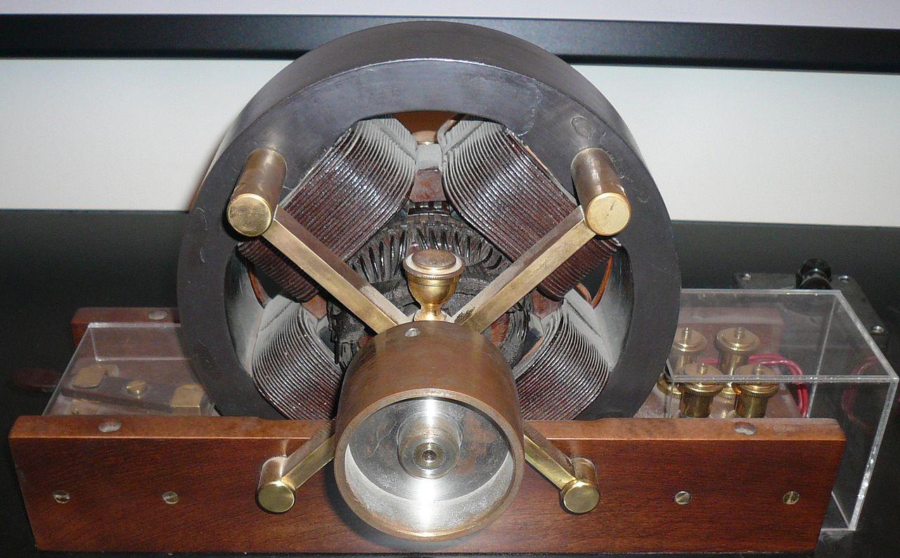 Музей Николы Теслы, модель индукционного двигателя