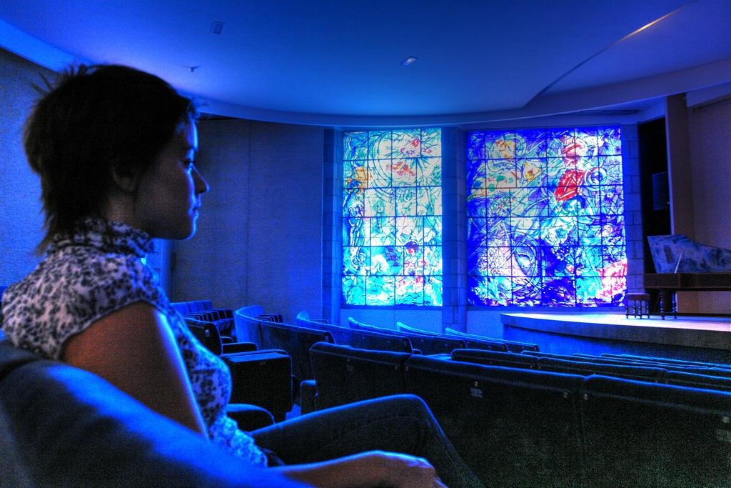 Национальный музей Марка Шагала, часовня и зрительный зал