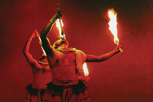 Огненное шоу, Шри-Ланка