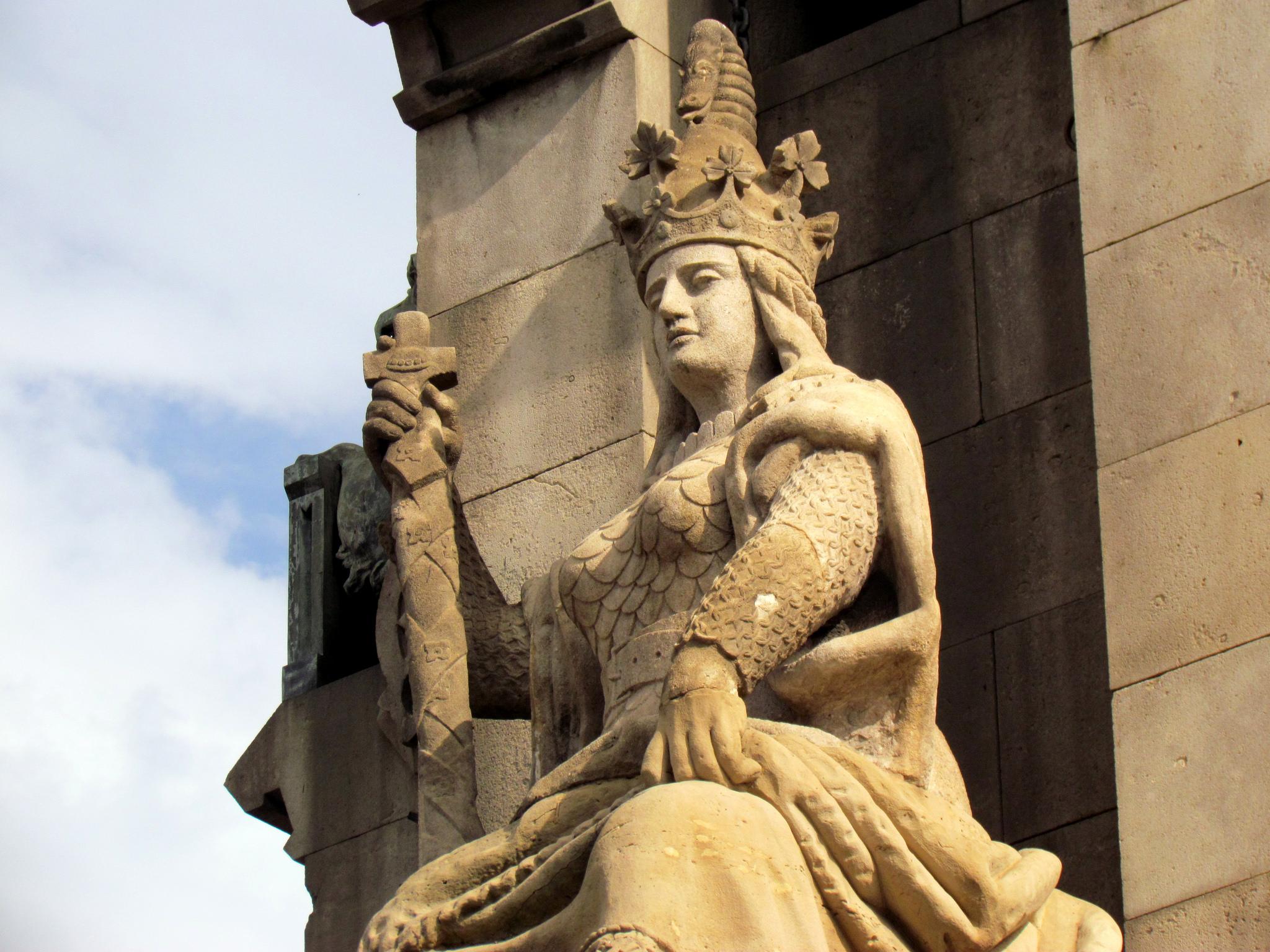 Монумент Колумбу в Барселоне, деталь пьедестала