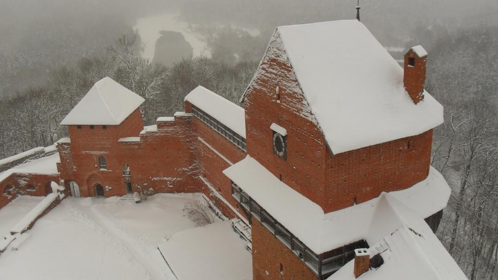 Турайдский замок, зима