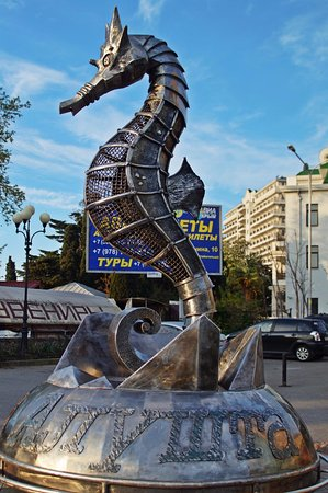 Скульптура «Морской конек», Алушта