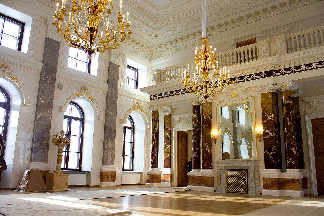 Императорский путевой дворец в Твери, Большой зал