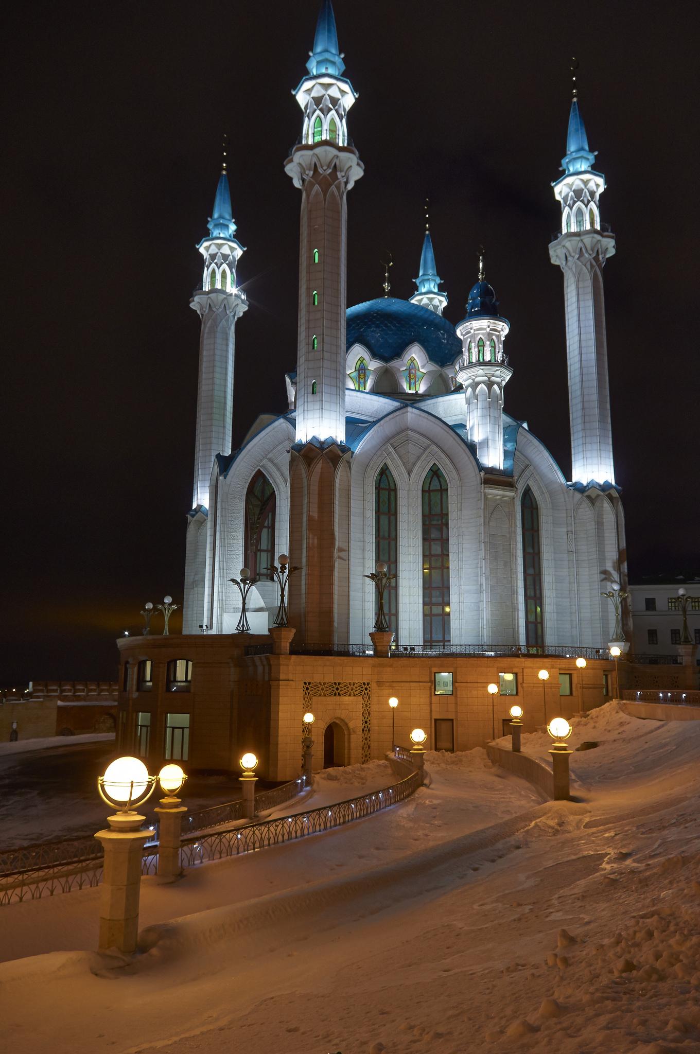 Кул-Шариф ночью, Казань