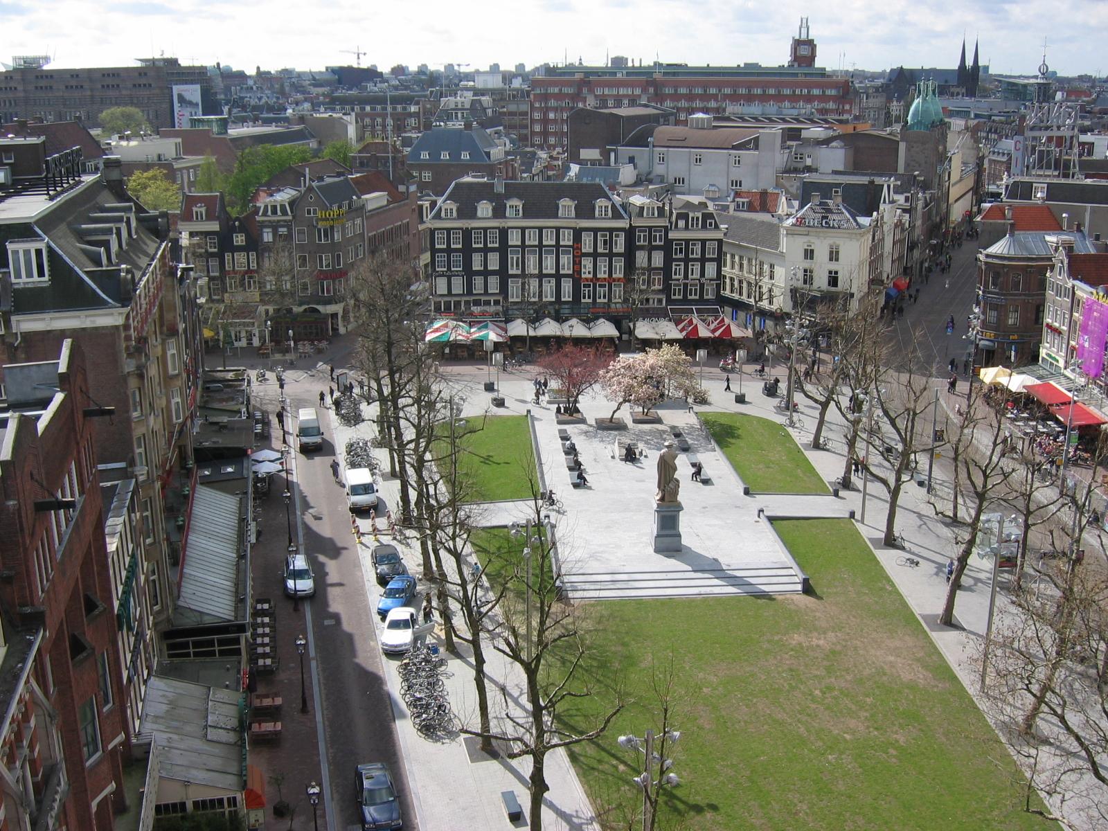 Площадь Рембрандта в Амстердаме, Нидерланды