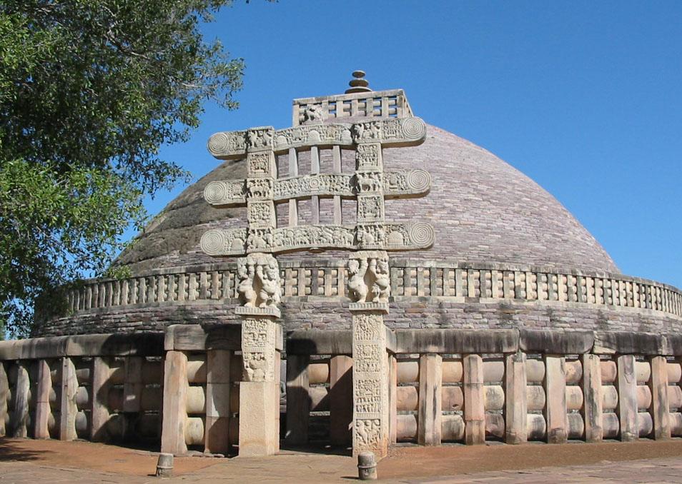 Вход в храм, Ступа в Санчи