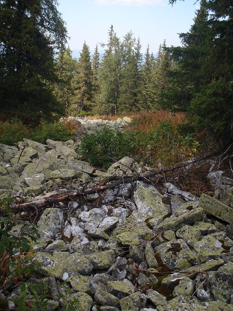 Каменная река с горы Большой Иремель