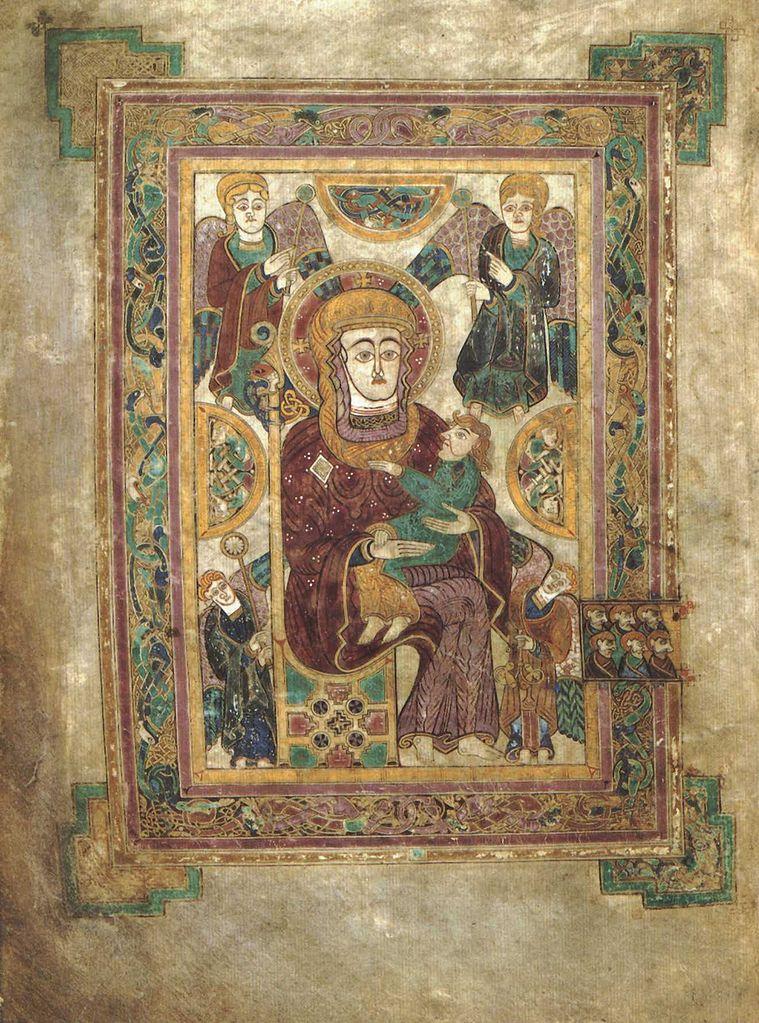 Келлская книга, Дева Мария с Младенцем