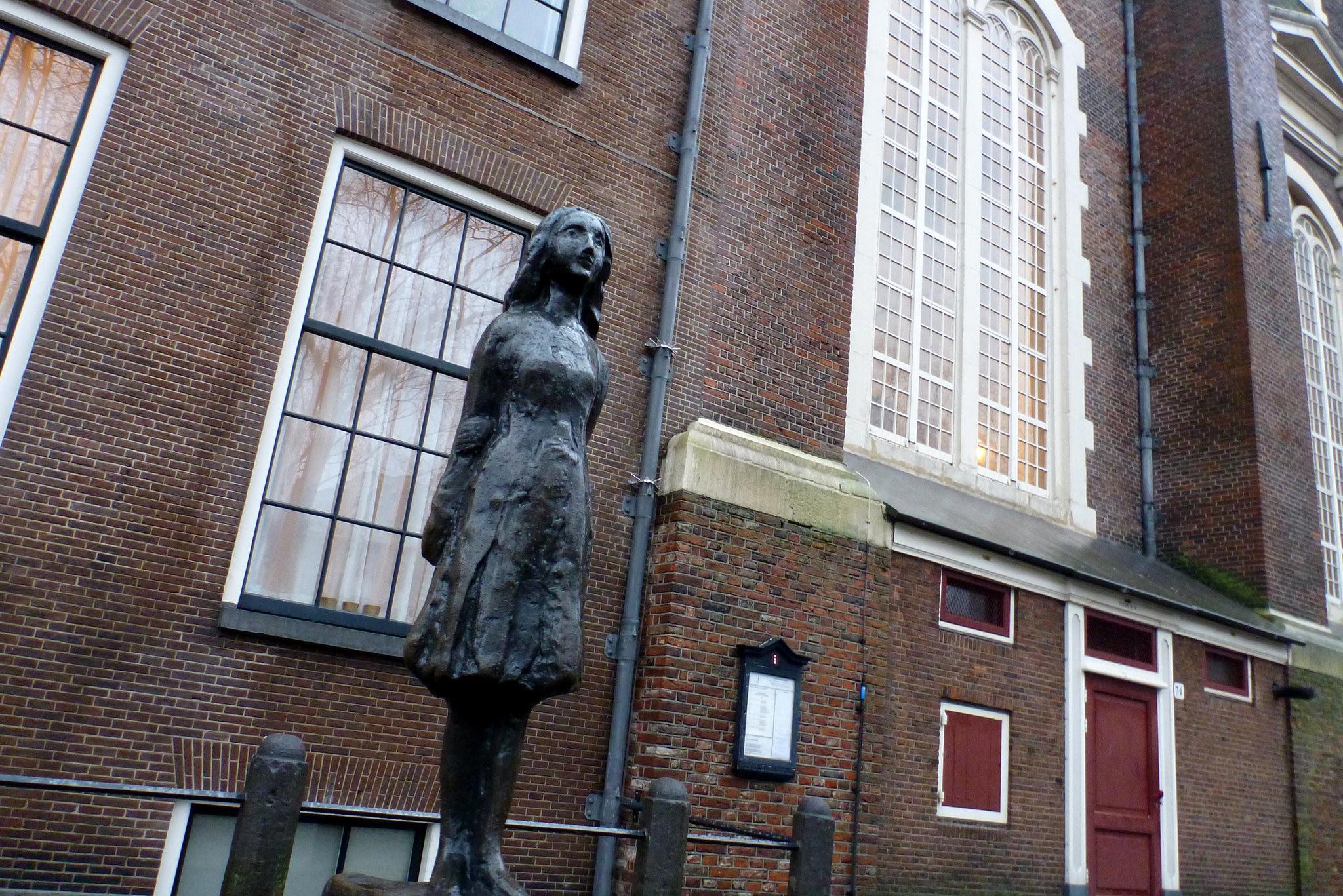 Памятник Анне, Дом Анны Франк, Амстердам