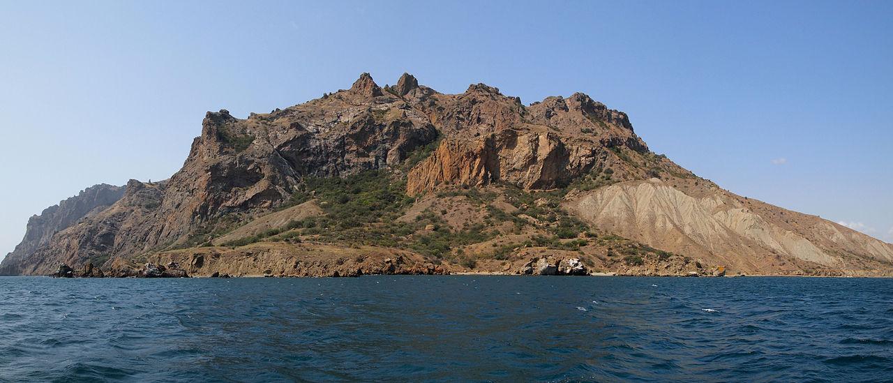 Карадагский заповедник, вид с моря