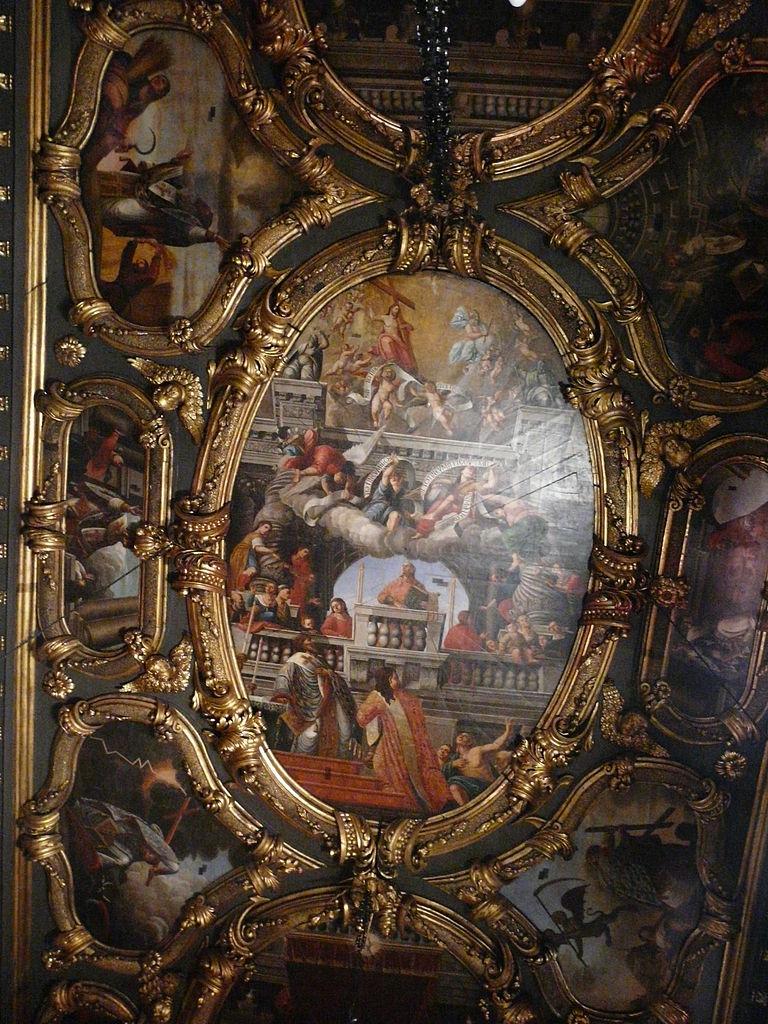 Собор Святого Спиридона, роспись на потолке