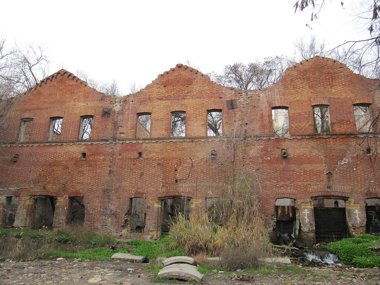 Парамоновские склады в Ростове-на-Дону, фасад одного из корпусов