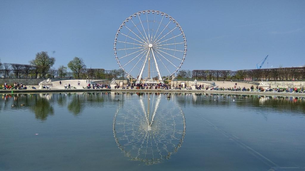 Колесо обозрения в саду Тюильри, Париж