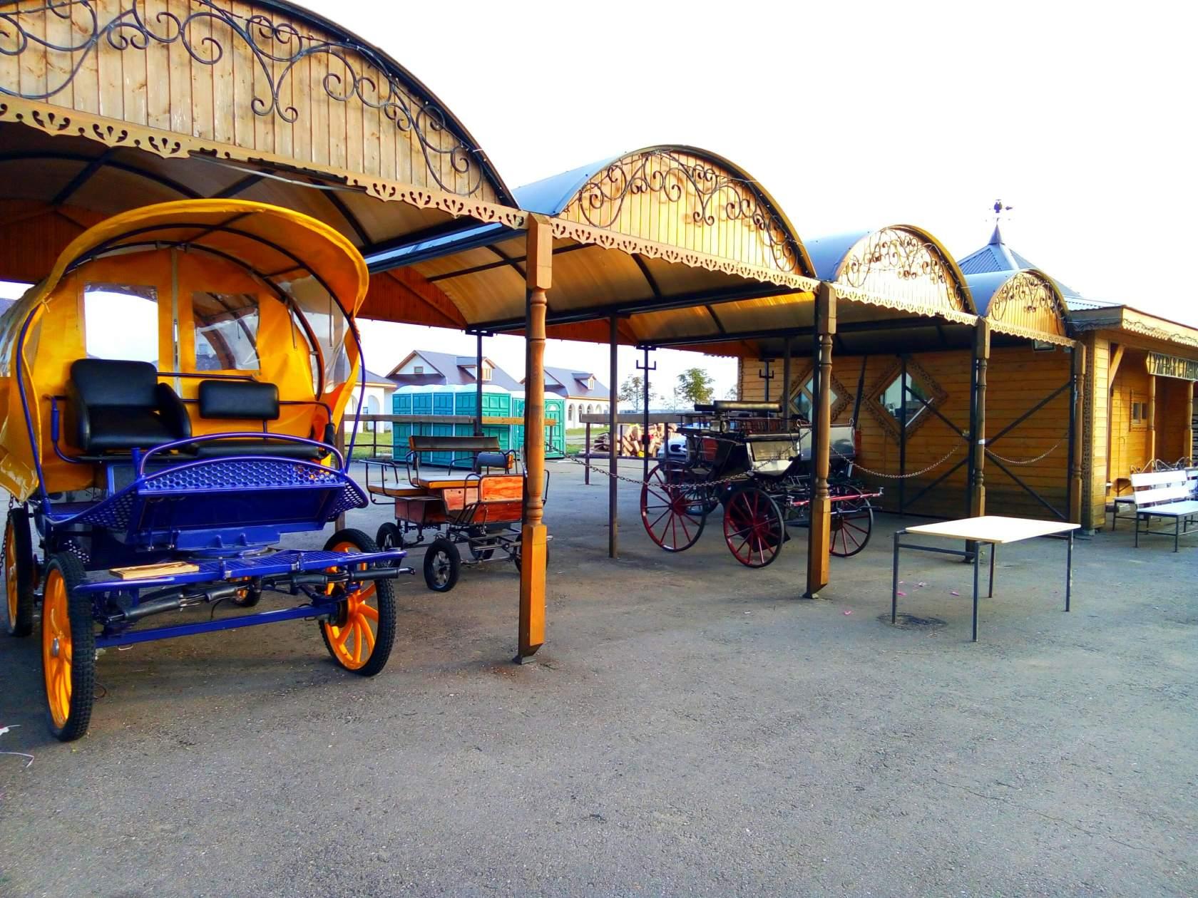 Экспозиция конного парка «Русь»