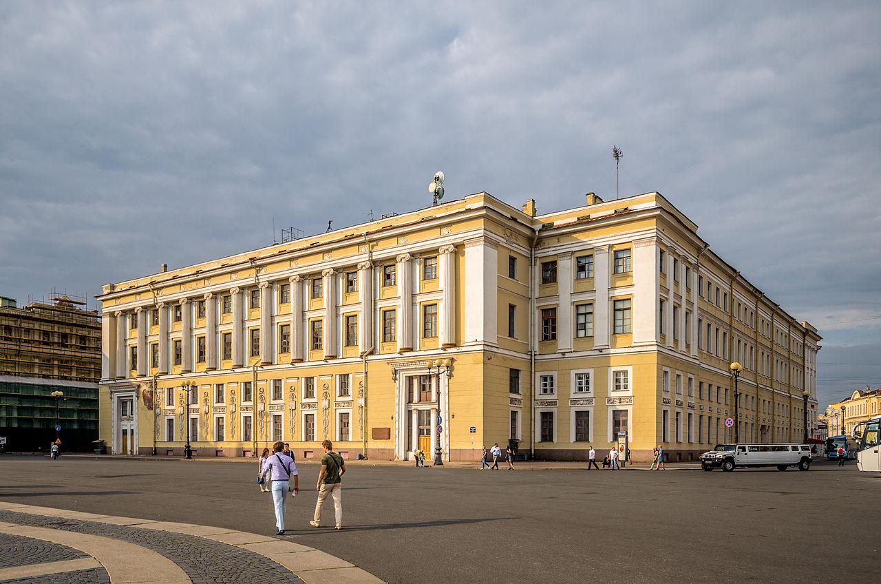 Дворцовая площадь в Петербурге, здание штаба Гвардейского корпуса