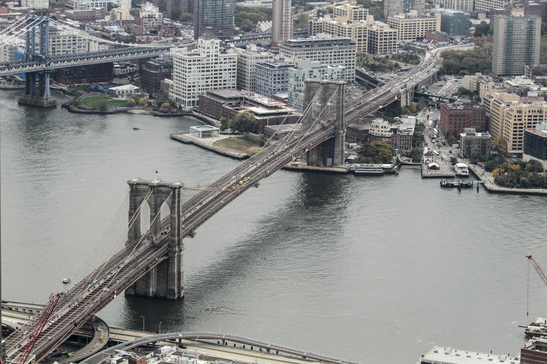 Бруклинский мост с высоты птичьего полета