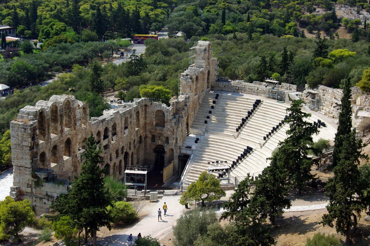 Вид на Одеон Герода Аттика с Акрополя