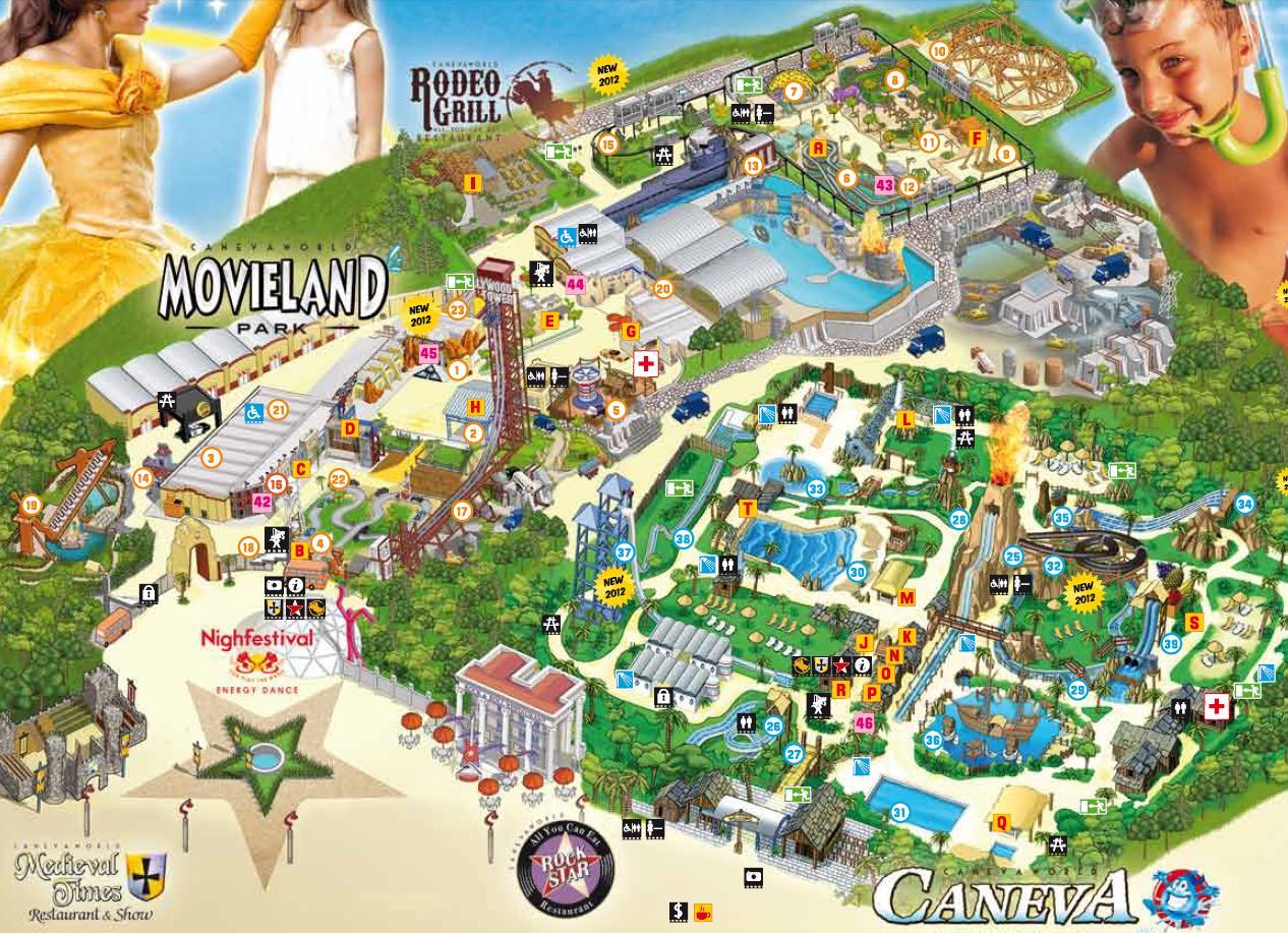 Карта парка Мувиленд