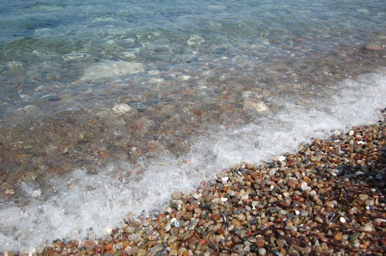 Прибой на пляже Лачи, Кипр
