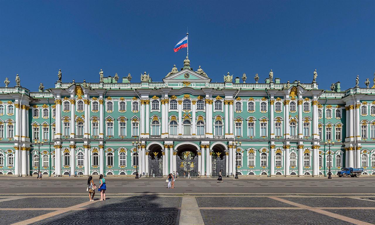 Дворцовая площадь в Петербурге, центральная часть южного фасада Зимнего дворца