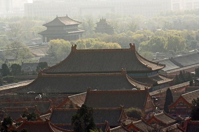 Крыши домов в запретном городе, Пекин