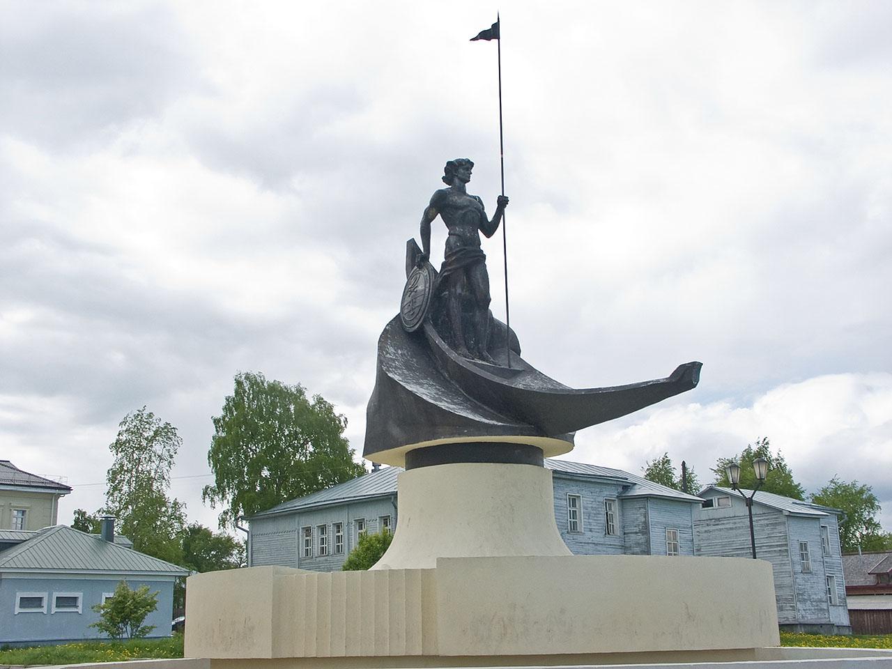 Скульптура на Онежской набережной, Петрозаводск